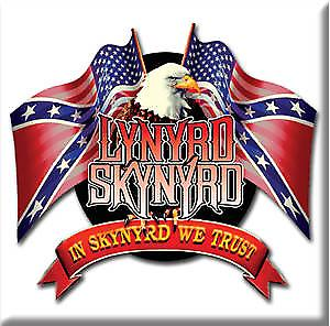 Lynyrd Skynyrd ''we trust'' steel fridge magnet