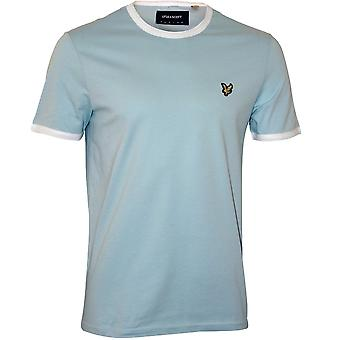 Lyle & Scott Contrast Trim Crew-Neck T-Shirt, Blue Shore