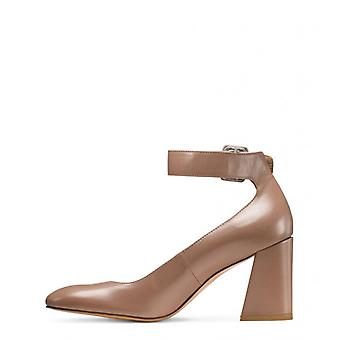 Stuart Weitzman Womens Clara Leather Closed Toe Ankle Strap Classic Pumps