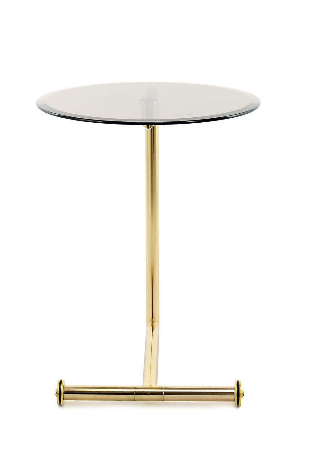 Basse Or Ronde Conception Top Sur Table Verre Roulettes nPXNO80wk