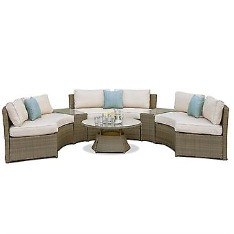 Labyrinth-Rattan-Tuscany-Halbmond-Sofa-Set