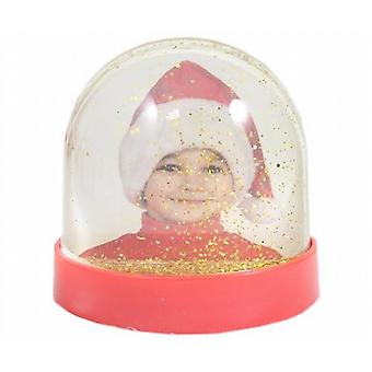 2 Double Sided Photo Holder Water Ball With Gold Glitter - (XA5470)