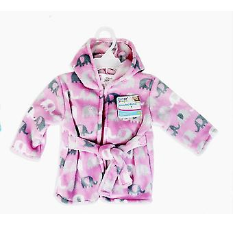First Steps Baby Hooded Robe One Size Elephant Design