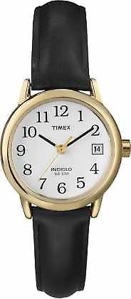 Timex Womens White Black Leather Strap  T2H341 Watch