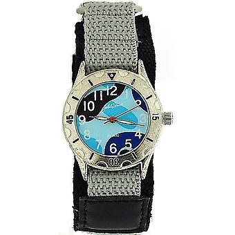 Jakob Strauss Blue Army Camouflage Easy Fasten Strap Boys Sports Watch JAST01
