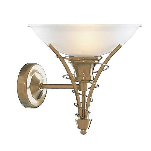 Searchlight 5227AB Linea Twist Antique Brass Wall Bracket And Acid Glass