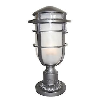 Elstead - 1 Light Outdoor Pedestal Light Hematite IP44 - HK/REEF3 HE