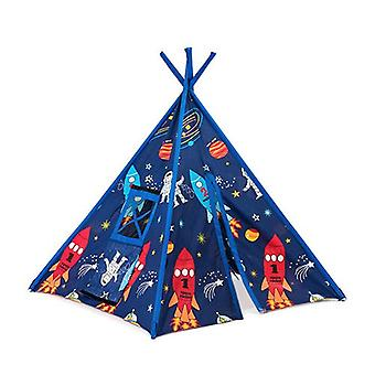 Children's Space Boy Print Foldaway Play Tent Teepee