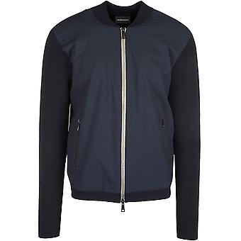 Emporio Armani Blouson Jacket Navy With Silver Zip