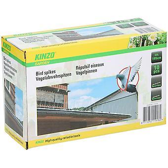 Pack of 10 Anti Bird Pigeon Steel Spikes Bird Deterrent Repellent Fence Wall