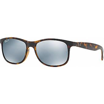 Ray-Ban Andy Ecaille Brillant Flash Argent Polarisé