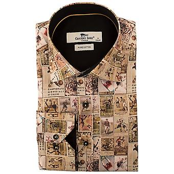 Claudio Lugli Vintage Footballers Print Mens Shirt