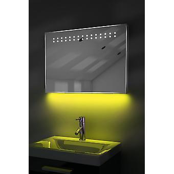 Shaver Mirror with UnderLighting, Bluetooth, Demist & Sensor k12saud