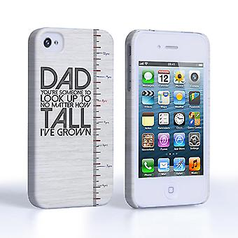 Caseflex iPhone 4 and 4S Dad Growing Up Quote CaseandCover