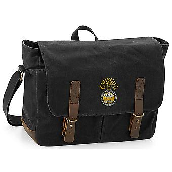 Royal Welch Fusiliers - Licensed British Army Embroidered Waxed Canvas Messenger Bag