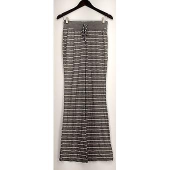Xhilaration Lounge Pants Pull On Drawstring Striped Gray Womens