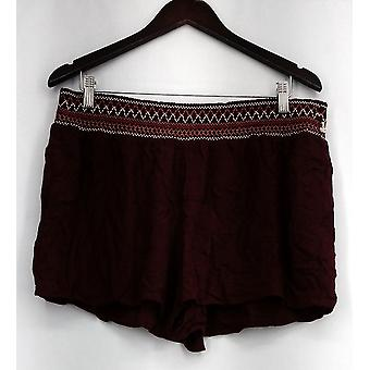 Mossimo Pull On Elastic Waist Light Weight Brown Womens