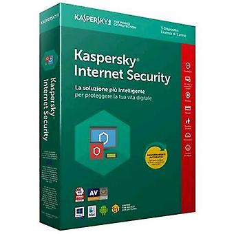 Kaspersky internet security 2018 license for 5 devices for 1 year full version (english)
