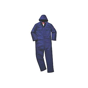 Portwest bizweld flame retardant hooded coverall biz6