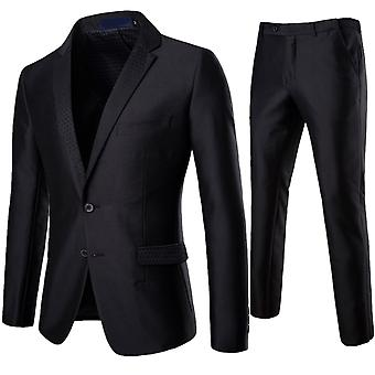 Allthemen Men's Anzüge 2-pieces Slim Fit Business Casual Suit Jacke & Hose