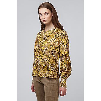 Louche Sander Baneberry Long Sleeve Blouse Yellow