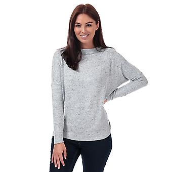 Womens Only Leo Crew Neck Jumper In Grey Marl