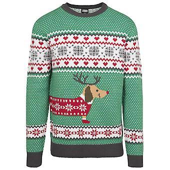 Urban Classics Men ' s Sweater cão salsicha Natal