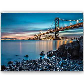 Metal Print, Bay Bridge In San Francisco