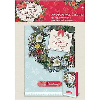 Papermania Pocket Full Of Posies A5 Decoupage Card Kit-  PM169943