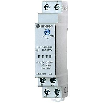 Twilight switch for 35 mm DIN-rail, series 11.31.8.230 Finder 11.31.8.230.0000 1 - 100 lx 230 V/50-60 Hz SPST-NO (AC1, 2
