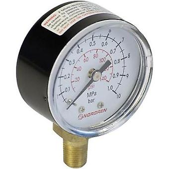 Manometer Norgren 18-013-013 Back side 0 up to 10 bar External thread R1/8