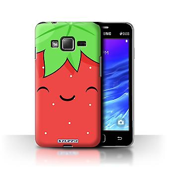 STUFF4 Case/Cover for Samsung Z1/Z130/Strawberry/Kawaii Food