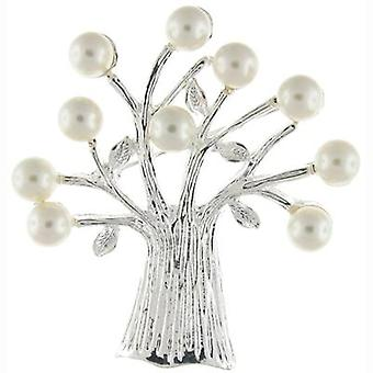 Brooches Store Silver and Ivory Pearl Tree of Life Brooch