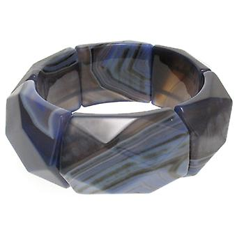 Lola Rose Riley Bracelet Blue Stripe Agate