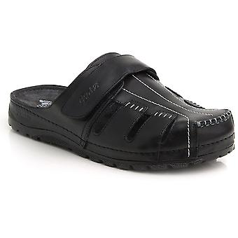 Batz KZ High Quality Slip-on Leather Mens Sandals Clogs