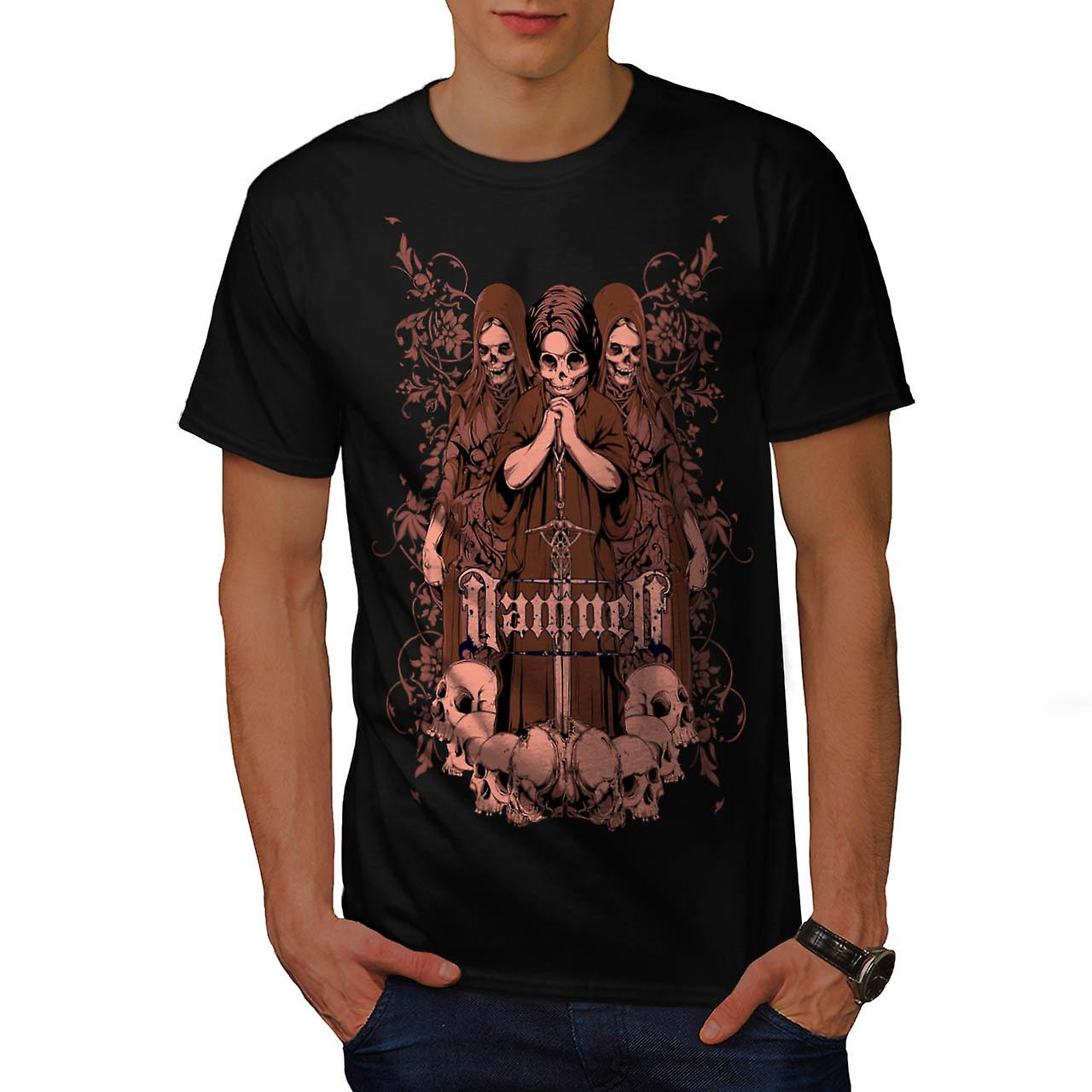 Damned Ghost Hell Horror Child Men Black T-shirt | Wellcoda