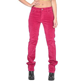 Slim Skinny Stretchy Cords Trousers - Pink