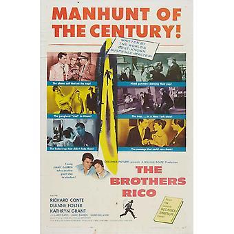 Die Brüder Rico Film Poster drucken (27 x 40)