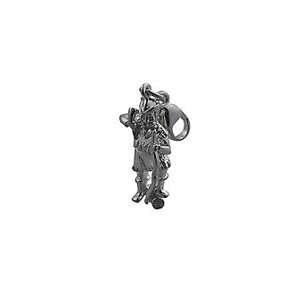 Silver 17x9mm Robin Hood Charm with a lobster catch