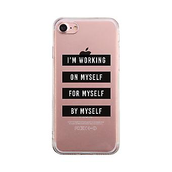 On Myself For Myself By Myself Transparent Case Clear Phone Cover