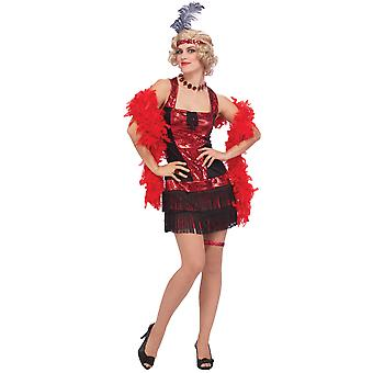 Speakeasy Flapper 20s Red Sequin Charleston Women Costume