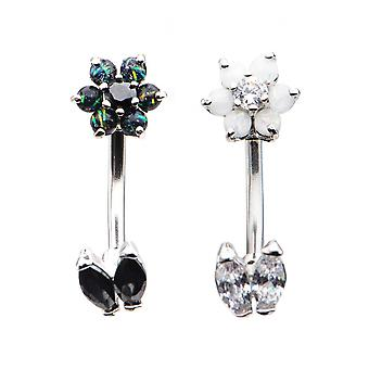 Body Vibe In & Out Flower Navel Bar
