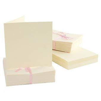 Anita's Anita's 100 Pack Blank Cards Cream Square (135 X 135mm)