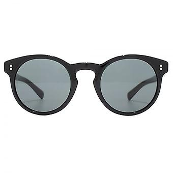Valentino Keyhole Round Sunglasses In Black