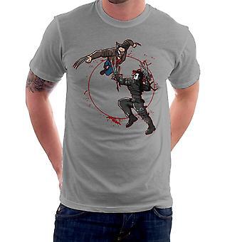 Blood Equinox Wolverine Vs Edward Scissorhands Men's T-Shirt