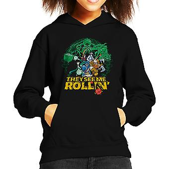 They See Me Rollin Dungeons And Dragons Kid's Hooded Sweatshirt