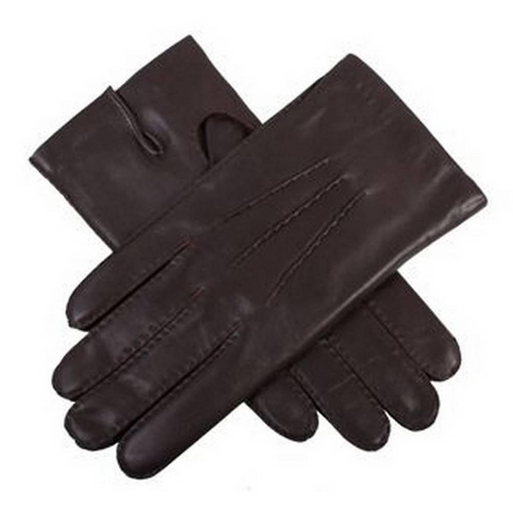 Dents Oxford Leather Gloves - Brown