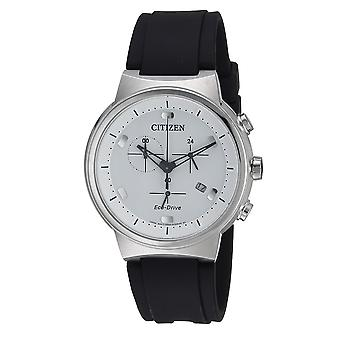 Citizen Eco-Drive Paradex lederen Chronograph Mens Watch AT2400-05A