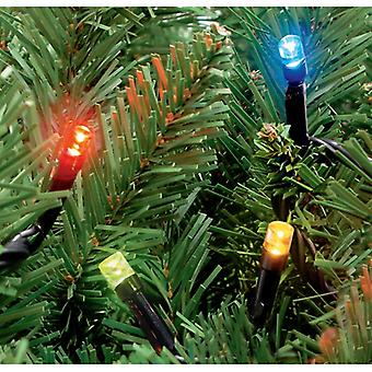100 Outdoor Static LED Christmas Lights in Multi Coloured