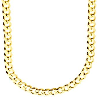 Sterling 925 zilver curb chain - CURB 6, 7 mm goud